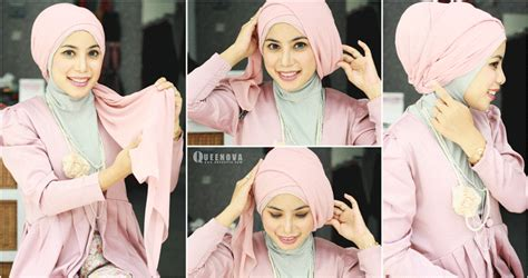 Tutorial Layering Turban Style | tutorial hijab layer segi empat simple