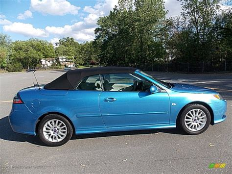 saab convertible blue electric blue metallic 2008 saab 9 3 2 0t convertible