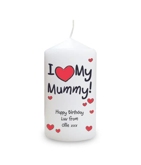 i heart my personalised candle personalised candles