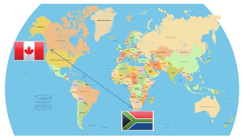 map of south canada workplace meditation reaches from canada to south africa