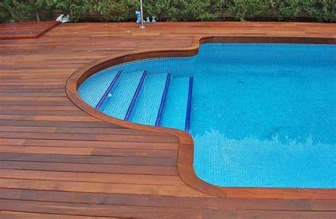 decks for inground pools pools backyards pinterest