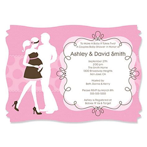 couples baby showers silhouette couples baby shower it s a personalized