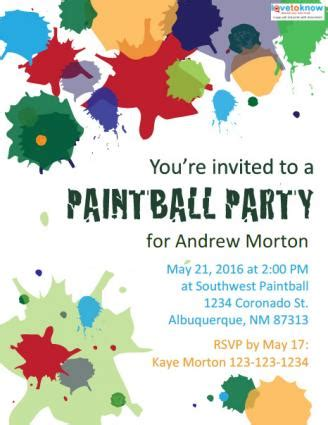 printable birthday invitations paintball paintballing clipart 42
