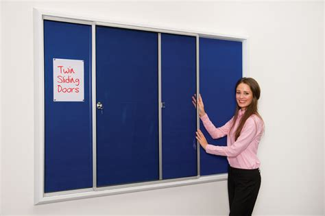Design Home With Ipad by Safety Locking Notice Board Notice Board With Sliding Doors