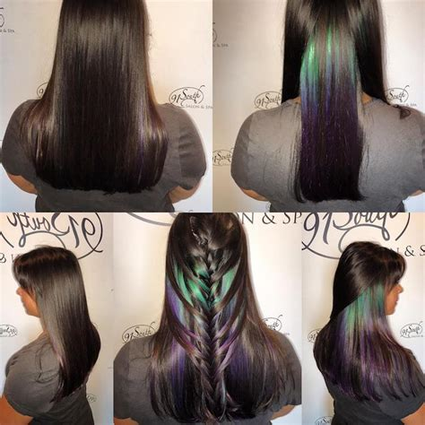 lorenzo brown hair color geode hair trends uses dazzling crystals as hair color