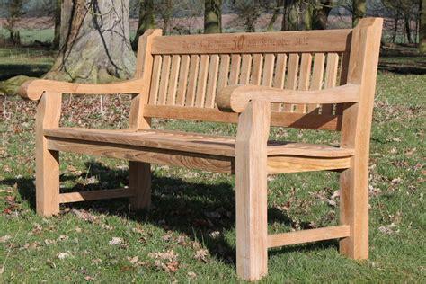 teak memorial benches memorial bench 1 5m quality teak