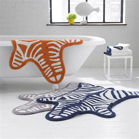 zebra bathroom rug buy jonathan adler zebra bath mat gray amara