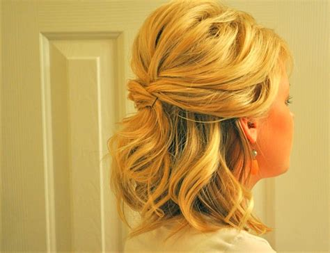 wedding hairstyles half up half down for short hair wedding hairstyles half up half down short hair