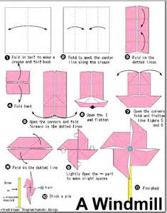 How To Make A Paper Windmill Step By Step - origami