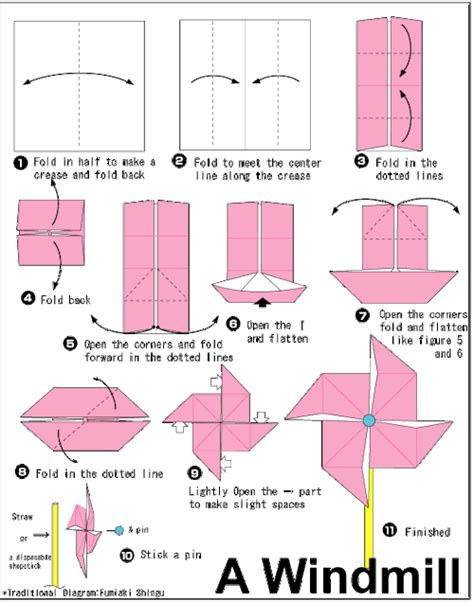 How To Make A Pinwheel Origami - origami