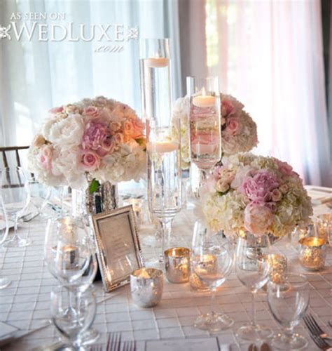 Pale Pink Wedding Decor by Silver Wedding Theme Archives Weddings Romantique
