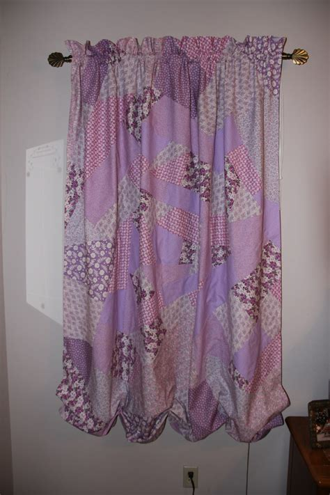 quilt curtains pink bunny crazy quilt curtains
