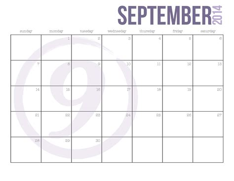 printable calendar september september printable calendars cool images