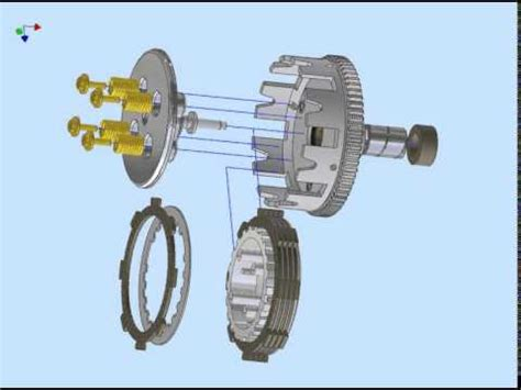 Mesin Cuci Panasonik Zero Matic clutch kopling sepeda motor design by autodesk inventor