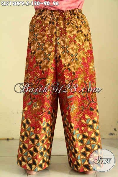 Kulot Jersey All Size model celana kulot batik di lengkapi kantong dan tali