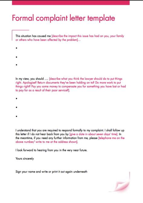 layout of a formal complaint letter formal complaint letter template http resumesdesign