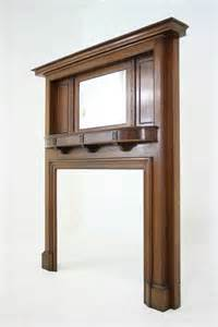 fireplace mantel mirrors antique solid mahogany fireplace mantel with bevelled