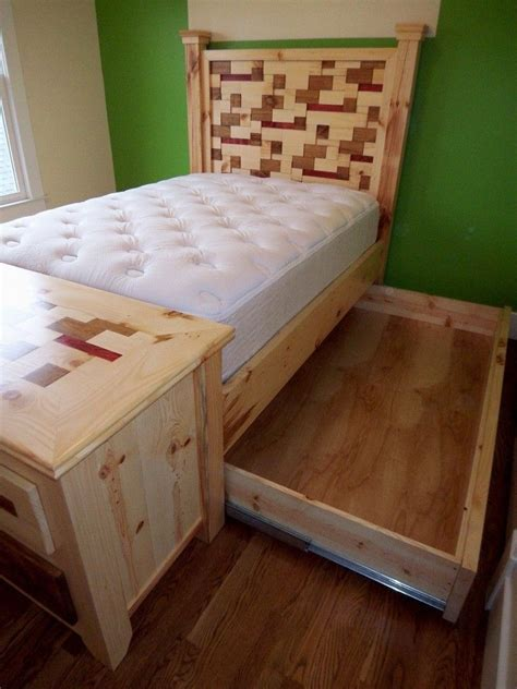 Handmade Pine Beds - handmade custom pine trundle bed by michael demay company