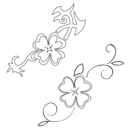 shamrock vine tattoo designs celtic tattoos for celtic clover free