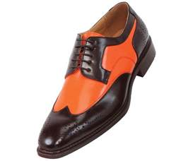 orange dress shoes mens bolano mens two tone orange and brown oxford dress shoe