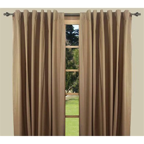 Thermal Back Curtains Ricardo Trading Elegance Insulated Thermal Foam Backed Curtain Panel With Rod Pocket And Back