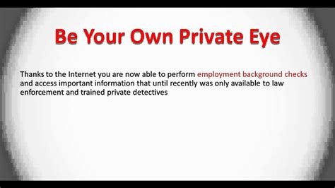 How To Do My Own Background Check Employment Background Check How To Do Your Own