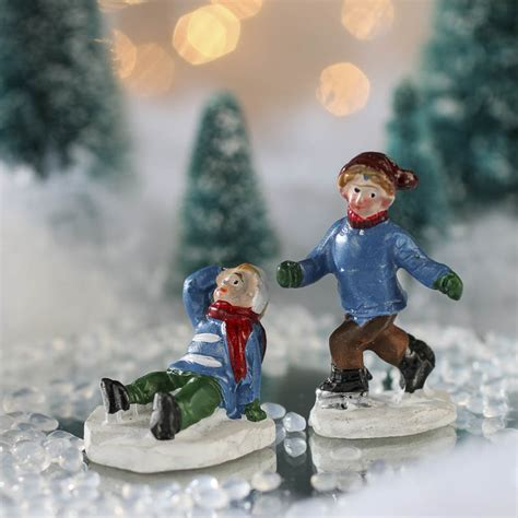 miniature ice skating children village figurines top sellers