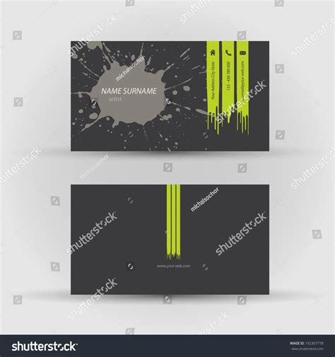digimon card template fuont and back set modern vector business card template stock vector