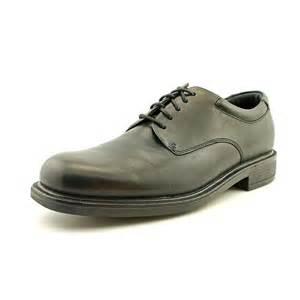 rockport margin mens size 9 5 black narrow leather oxfords