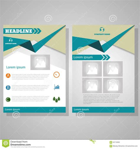 a4 brochure layout design brochure design layout template size a4 stock vector