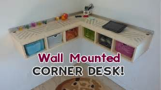 Build In Bookshelves by Diy Wall Mounted Stand Up Desk Youtube