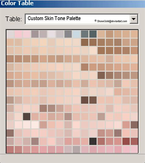 tone on tone color custom skin tone palette by shonegold on deviantart
