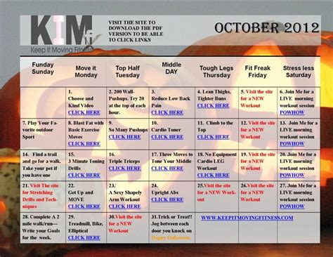 keep it moving fitness free fitness calendar for home