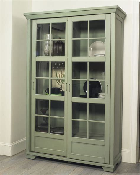 Pantry Cabinet With Glass Doors Jonathan David Library Cabinet With Sliding Doors Eclectic Pantry Cabinets Other Metro