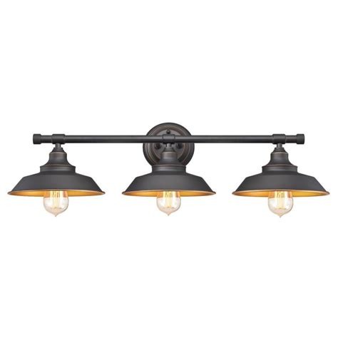 bronze bathroom lights westinghouse iron hill 3 light oil rubbed bronze wall mount bath light 6344900 the