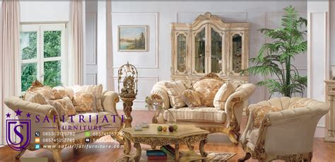 Kursi Tamu Mewah Model Istana Presiden safitrijati furniture gaya perabotan kursi tamu mewah