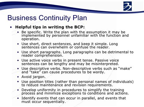 business continuity and disaster recovery plan template bcp business continuity plan pdf