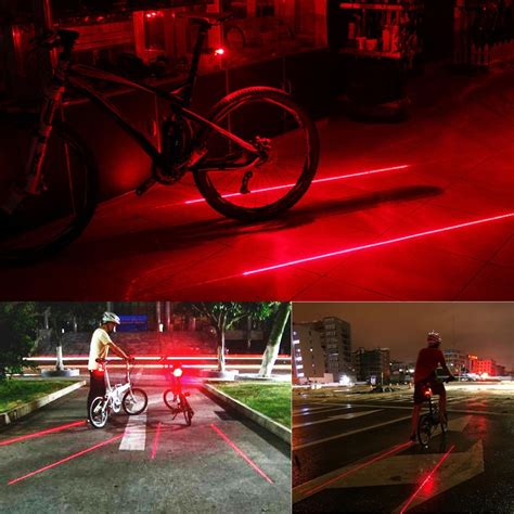 Bicycle Laser Strobe Tailight 5 Led Lu Led Sepeda Murah bicycle laser strobe taillight 5 led lu led sepeda