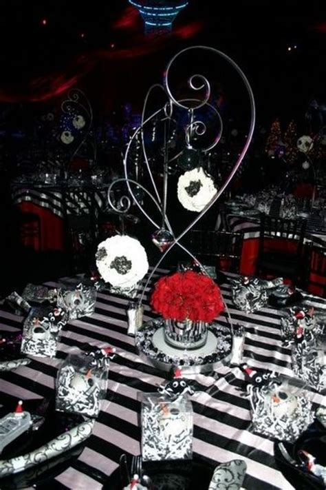 nightmare before christmas centerpiece wedding ideas