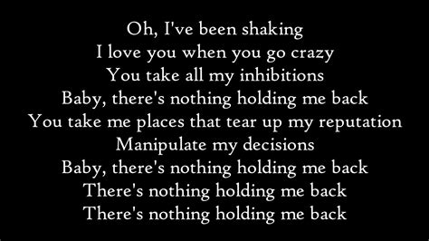 testo get back shawn mendes there s nothing holding me back lyrics