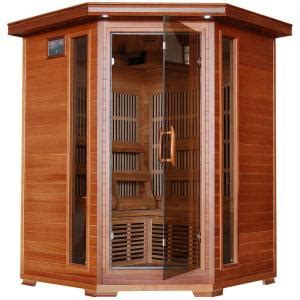 bathroom fan model 7550 radiant sauna 3 person cedar corner infrared sauna with 7