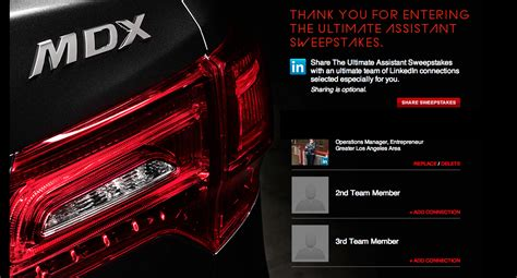 Acura Sweepstakes - acura sweepstakes autos weblog