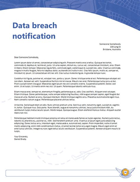 Target Credit Card Breach Letter Data Breach Notification Letter Docoments Ojazlink