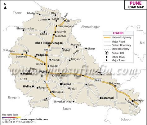 city map of pune road map of pune pune