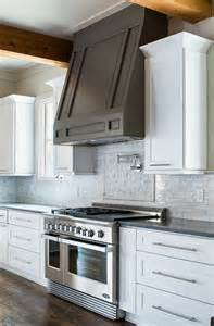 Kitchen Cabinet Hoods by Grey Kitchen Hood White Kitchen Cabinet With Grey Hood