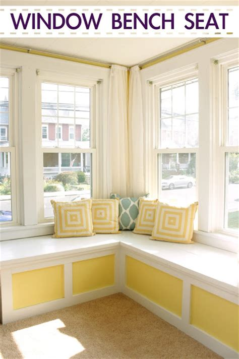 sunroom bench dreary to cheery family room makeover knock it off