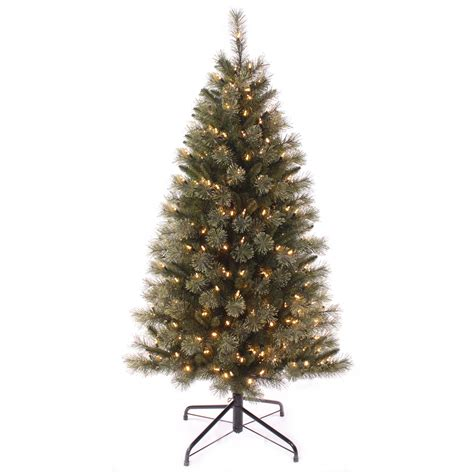 white pre lit tree 5ft pre lit tree with warm white led lights artificial decoration ebay