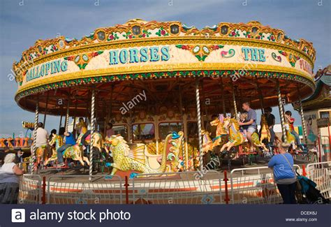 traditional funfair carousel ride great yarmouth norfolk