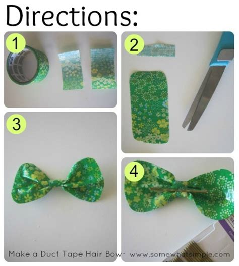 direction make hair bows how to make a basic hair bow with duct tape