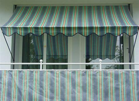 markisen paradies gutschein balkonbespannung 75 cm design nr 3300 blau beige